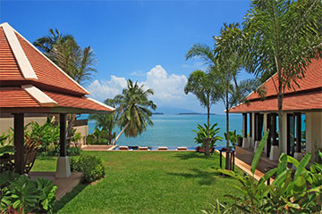 Samui Holiday Homes presents beach front villa rental at Bacaya, Koh Samui, Thailand