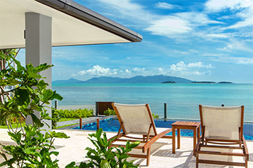 Samui Holiday Homes presents beach front villa rental at Baan Dalah, Koh Samui, Thailand