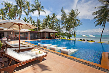 Samui Holiday Homes presents private luxury beach house at Baan Kilee, Koh Samui, Thailand