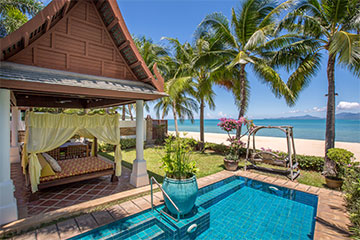 Samui Holiday Homes presents private luxury beach house rental at Miskawaan Villa Bougainvillea, Koh Samui, Thailand